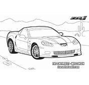 Corvette Colouring Pages