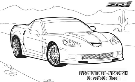 corvette coloring page az coloring pages
