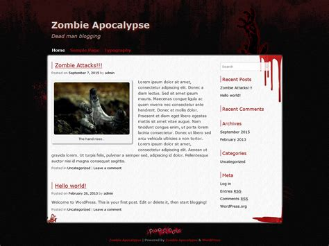 theme wordpress zombie zombie apocalypse requiem v and update 2 0 with extra gore