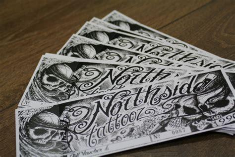 tattoo voucher tattoo voucher northside tattooz whitley bay est 1990