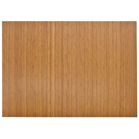 Bamboo Chair Mats by Anji Mountain Standard Light Brown 48 In X 72 In Bamboo Roll Up Office Chair Mat
