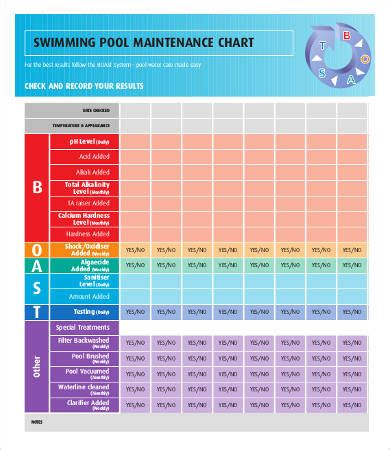 Cleaning Chart 8 Free Word Pdf Documents Download Free Premium Templates Swimming Pool Maintenance Checklist Template
