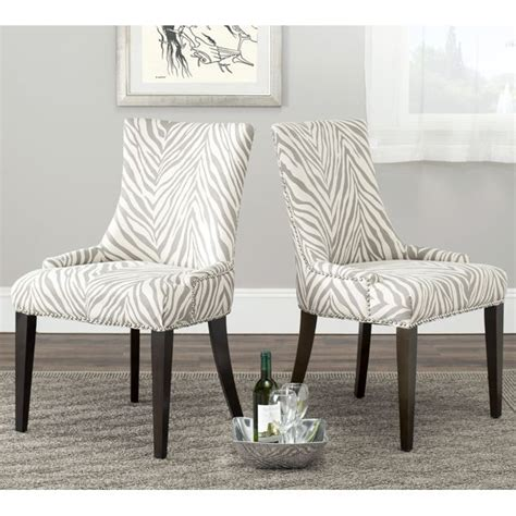 zebra print dining room chairs safavieh becca zebra grey dining chair