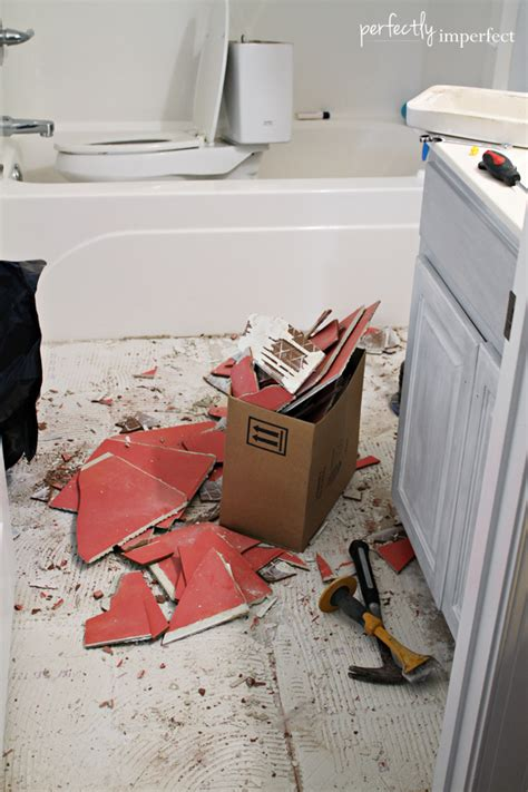 how to remove tile floor removing ceramic tile perfectly imperfect blog