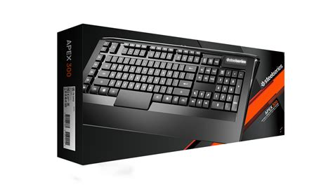 Keyboard Gaming 300 Ribuan apex 300 illuminated low profile gaming keyboard steelseries