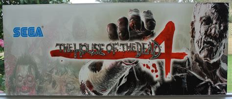 house of the dead 4 original house of the dead 4 plexi marquee sold out arcade art shop
