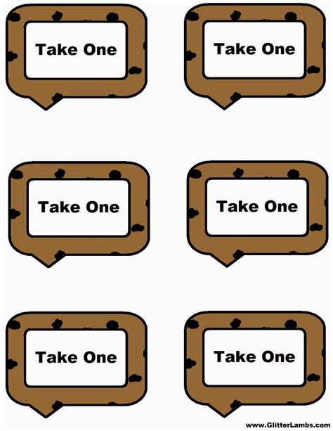 cookie rally card templates cookie food label cards and free printable