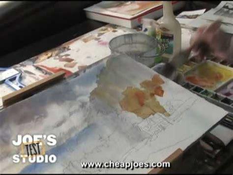 cheap joe s watercolor tutorial painting trees cheap joe s watercolor training part 3