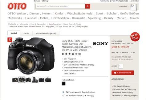 Kamera Sony Dsc H300 otto deal des tages sony dsc h300 zoom kamera f 252 r