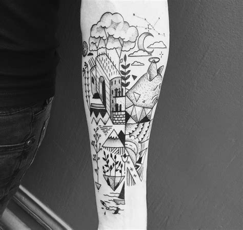 geometric line work tattoo www pixshark com images