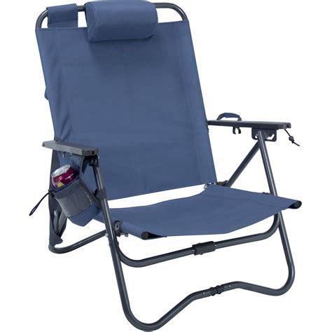 gci outdoor recliner chair gci outdoor bi fold c chair stellar blue 63077 b h photo