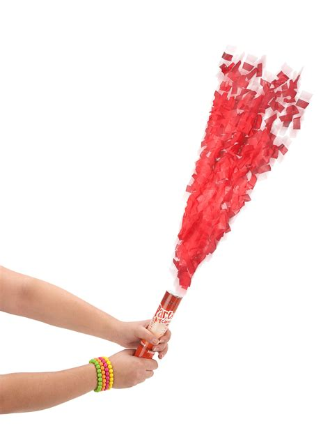 Popper 30 Cm popper riesen konfetti dekoartikel rot 30cm