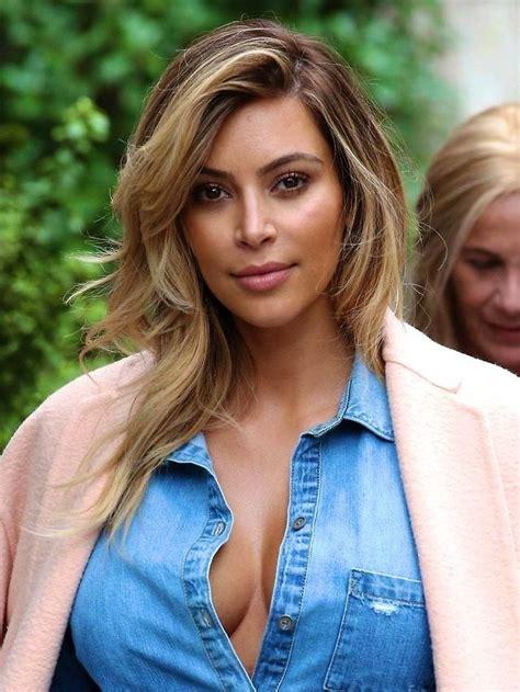kim k balayage kim kardashian blonde balayage highlights first love