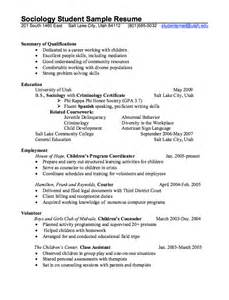 sociology student resume example resumes design