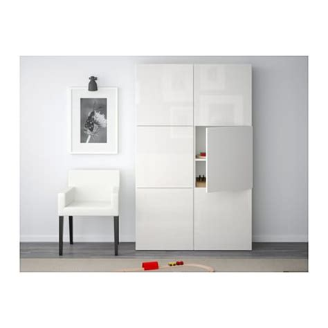 Ikea Besta Combination by Best 197 Storage Combination With Doors White Selsviken High