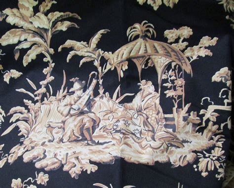 asian upholstery fabric oriental toile fabric 4 yd upholstery drapery home decor