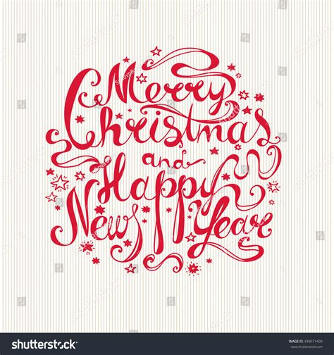 new year font style lettering quot merry and happy new year quot twisted