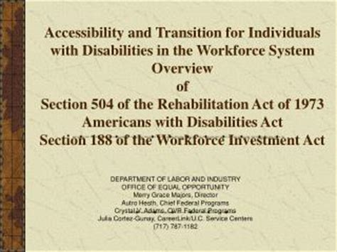 What Is Section 508 Of The Rehabilitation Act by Ppt Overview Of Section 504 Of The Rehabilitation Act Of