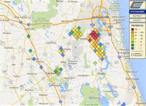 florida power and light outage map wind causing power outages throughout clay electric s