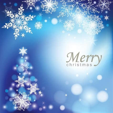 vector elegant blue background merry christmas template  vector  encapsulated