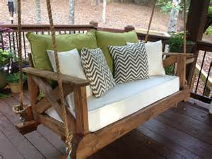 Diy Daybed Porch Swing Plans With A Repurposed Crib Mattress For Our Cushion We Are