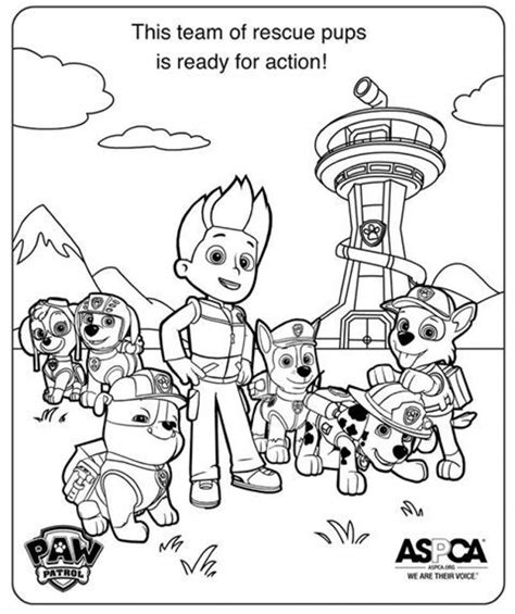 paw patrol group coloring pages get this paw patrol coloring pages free printable 31743