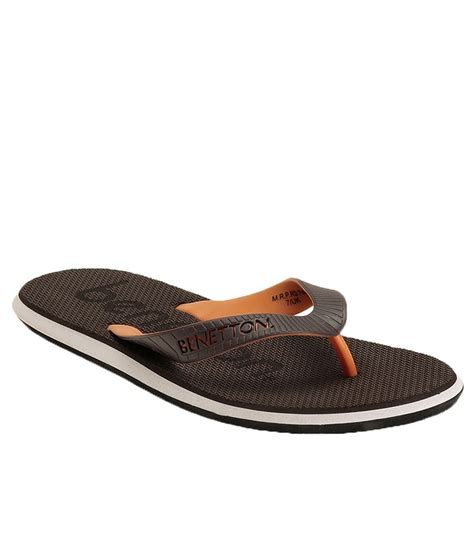 buy slippers for united colors of benetton brown slippers