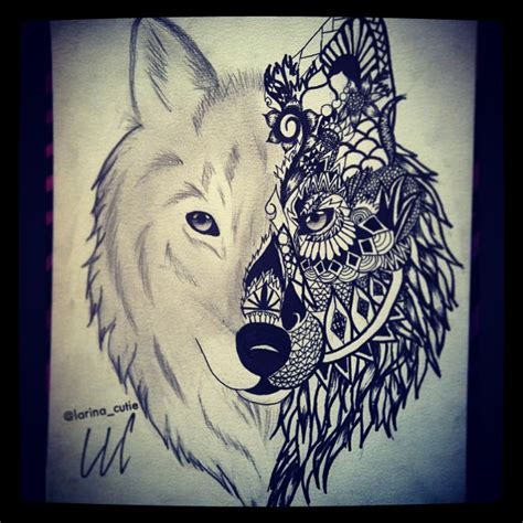wolf henna tattoo designs howling wolf graffiti pencil and in color