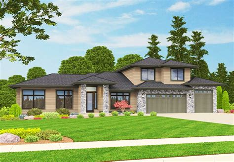 nw home plans inspired northwest house plan 85090ms 1st floor master