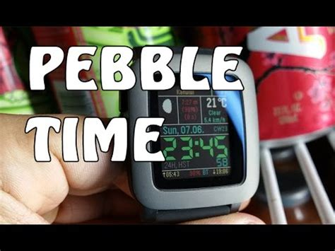 pebble time kickstarter edition look review
