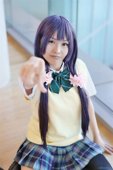 Blouse Rara black legwear blouse live school idol project pleated skirt purple hair