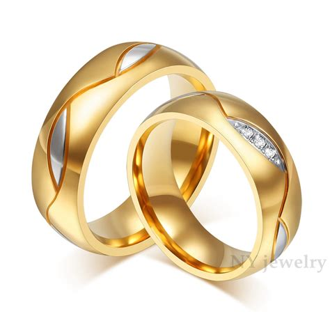 Paar Ringe Gold by High Quality Rings For Cubic Zirconia