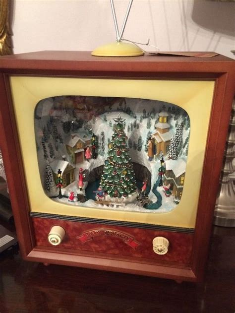 new lane furniture large lighted animated retro tv music