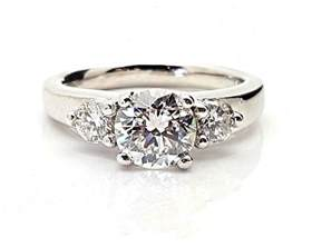 platinum 1 carat engagement ring