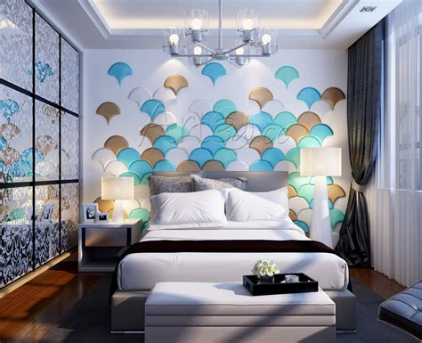 wall design of bedroom living room wall panels