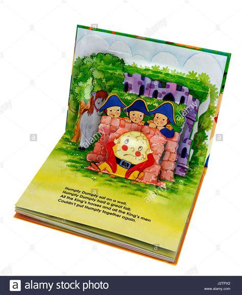 apop up book of nursery b0092gal0c the nursery rhyme humpty dumpty in a pop up book of nursery rhymes stock photo royalty free