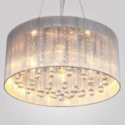Chandeliers Light Fixtures New Modern Drum Shade Ceiling Chandelier Pendant Light Fixture Lighting Ebay