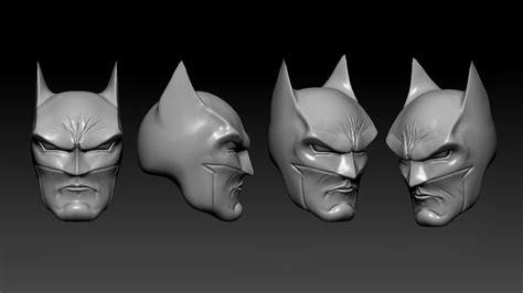 figure 3d printer model batman heads sculpt for figure 3d print model 3d