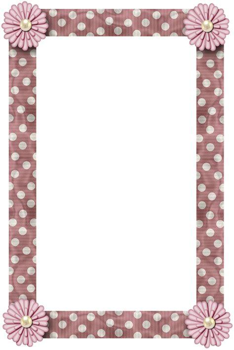 Frame Scrapbook grannyenchanted free elements free pink polka with