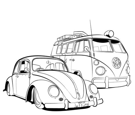 printable coloring pages vw bug free coloring pages of vw bug