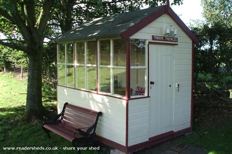 signal shed kats halt signal box cabin summerhouse from