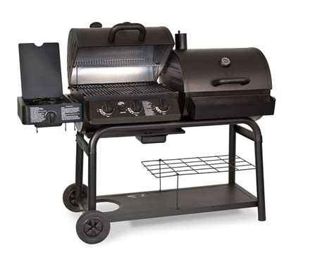 backyard grill gas charcoal combination grill cast iron gas charcoal smoker 2 in 1combo combination