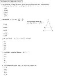 math plane sat math level 2 practice test b
