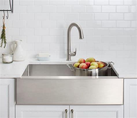 kohler stainless steel farmhouse sink popular stainless steel kitchen sinks