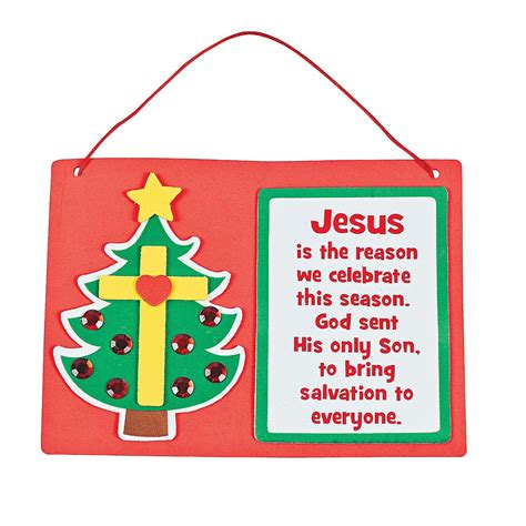 christmas sunday school craft inspirational tree cross sign craft kit orientaltrading sunday school ideas
