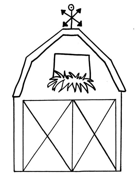 barn coloring pages fall barns colouring pages