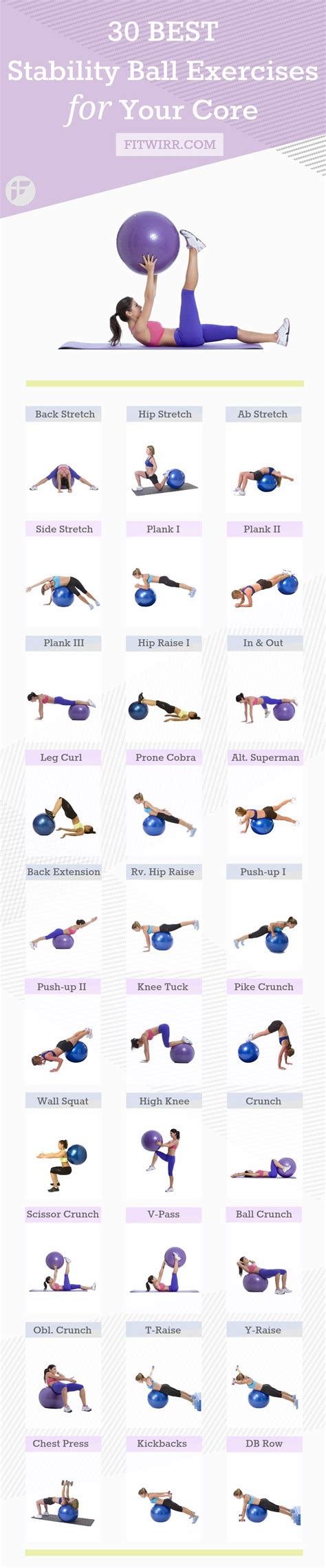 printable exercise ball workouts 30 best exercise ball workouts to work your whole body