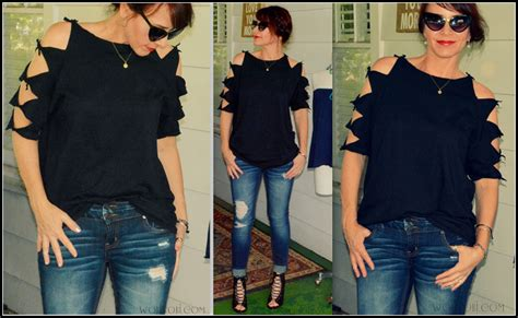 carly used the scissors to cut shirt on general hospital wobisobi shoulder tied tee shirt diy