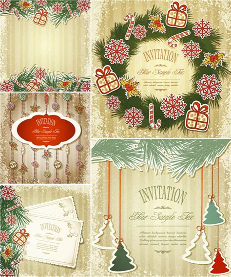 christmas design invitation card free vector graphics vector graphics blog page 144