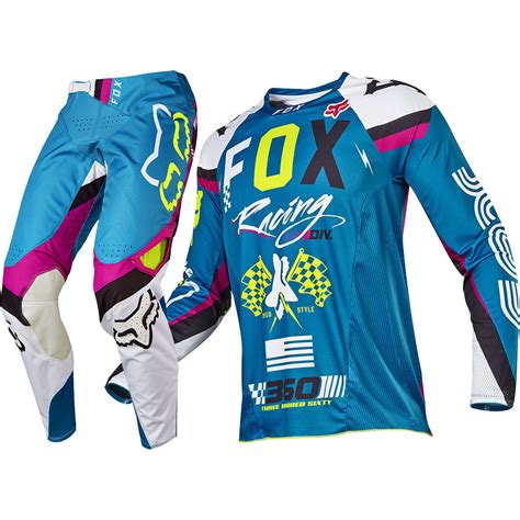 Jersey Motocross Top Brand 2017 fox racing 2017 mx new 360 rohr teal flo yellow jersey